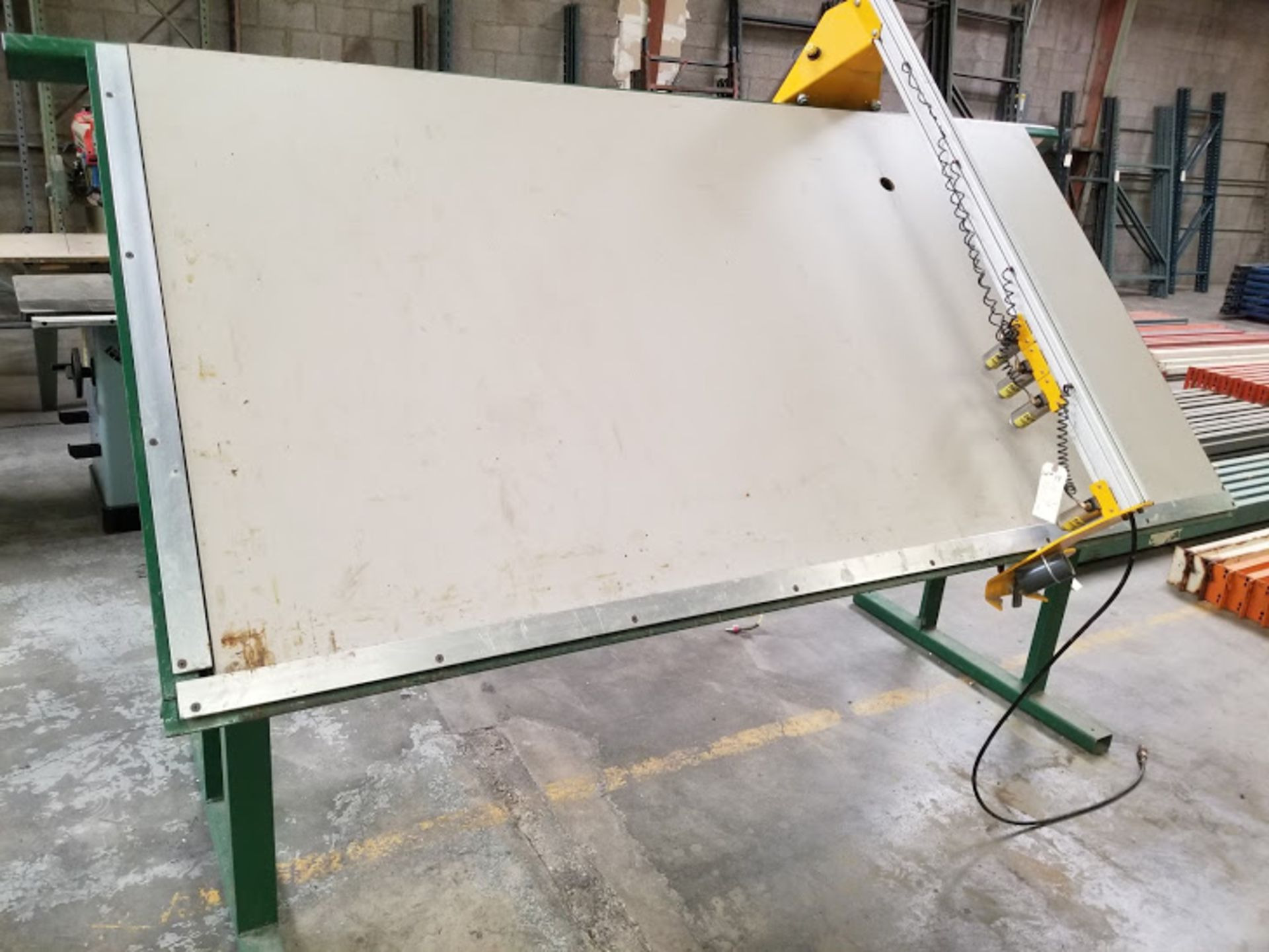 Lot 19 - Castle Face Frame Table, 4' x 8', 4 - Pneumatic Hold Downs