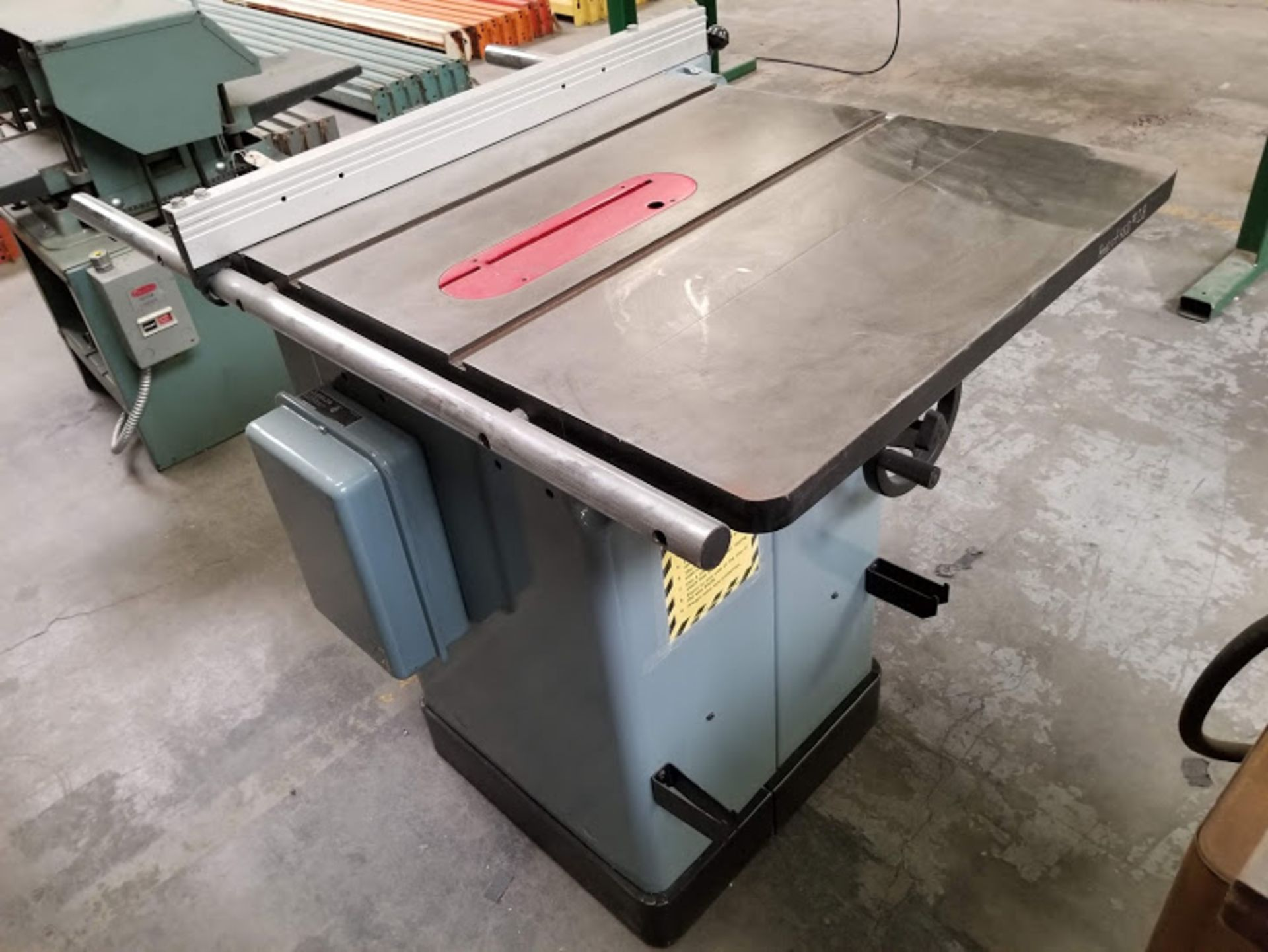 """Lot 17 - Delta 10"""" Unisaw with Jet Lock Fence & 25"""" rails, 5 HP 230 volt 3 phase"""