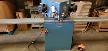 "CTD Fixed Double End 45 Degree Miter Saw, 12"" Blades, 2 - 1 1/2 HP Baldor 230 Volts Motors, 2 - 11"