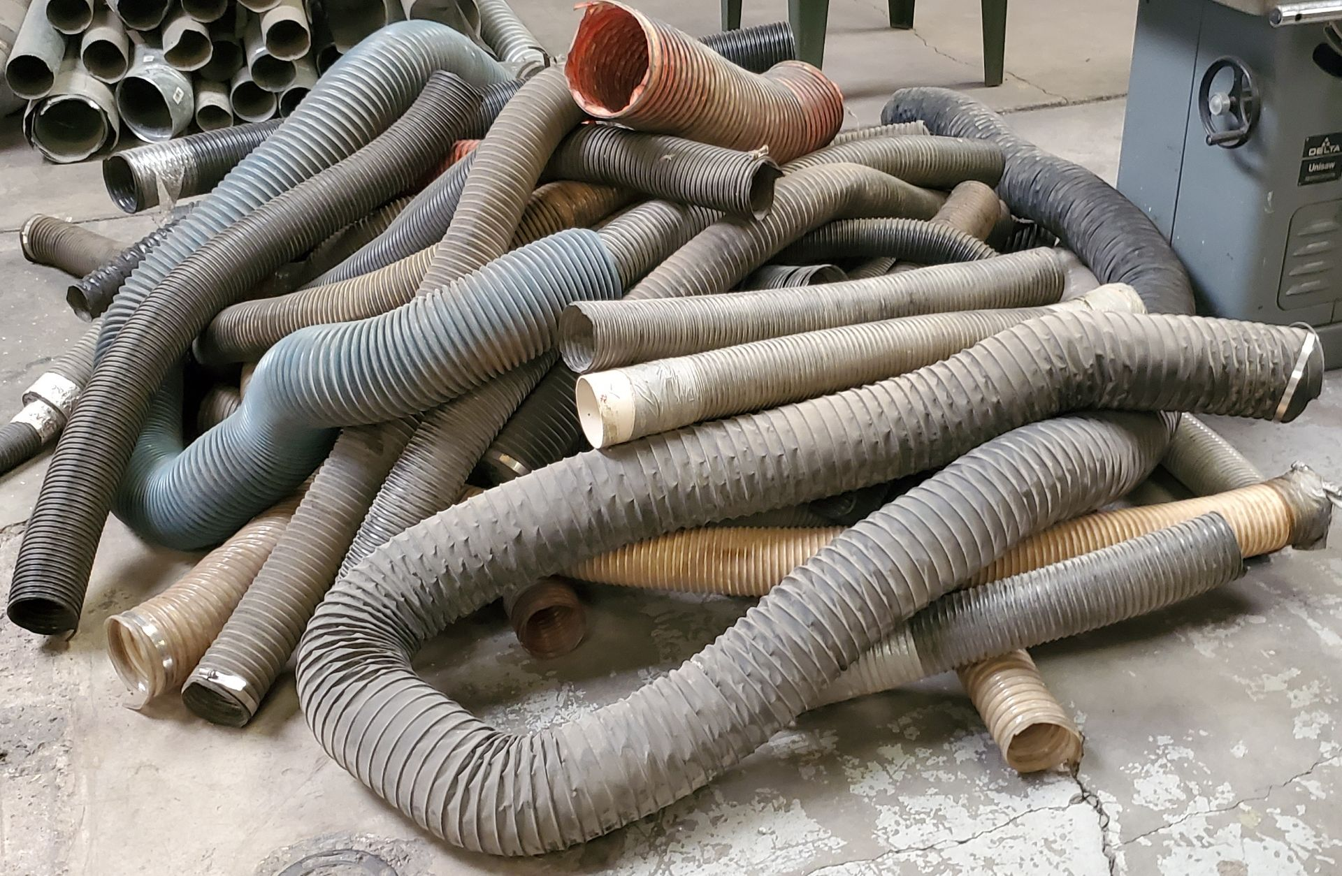 Lot 14 - Misc Hoses- 4inch, 5inch, 6inch, 7inch, diameter