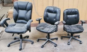 3 - Black Office Chairs