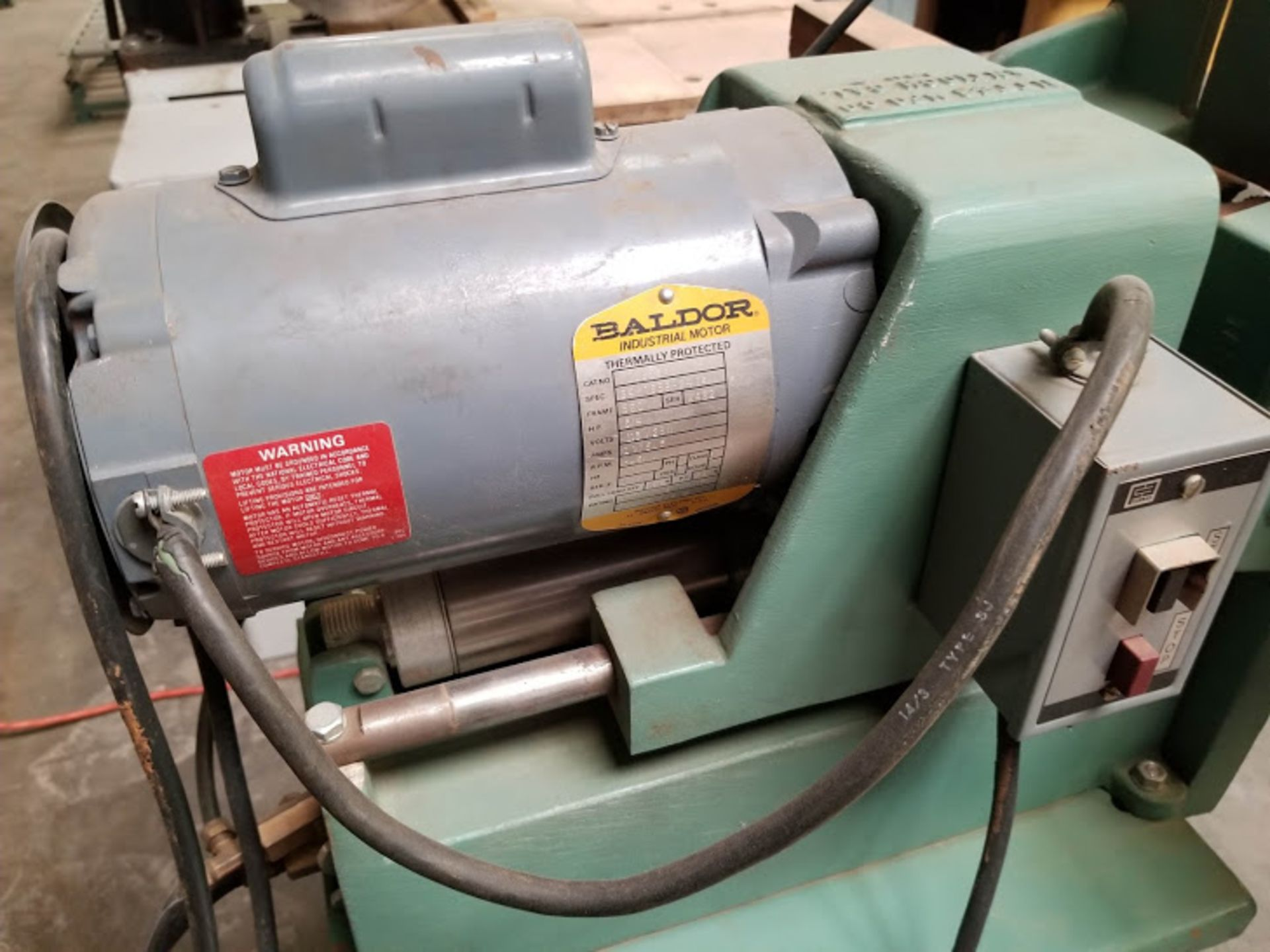 Lot 22 - Ritter 1 Spindle Boring Machine, Pneumatic Foot Pedal, Baldor 3/4 HP 115/230 Volts 1 Phase Motor