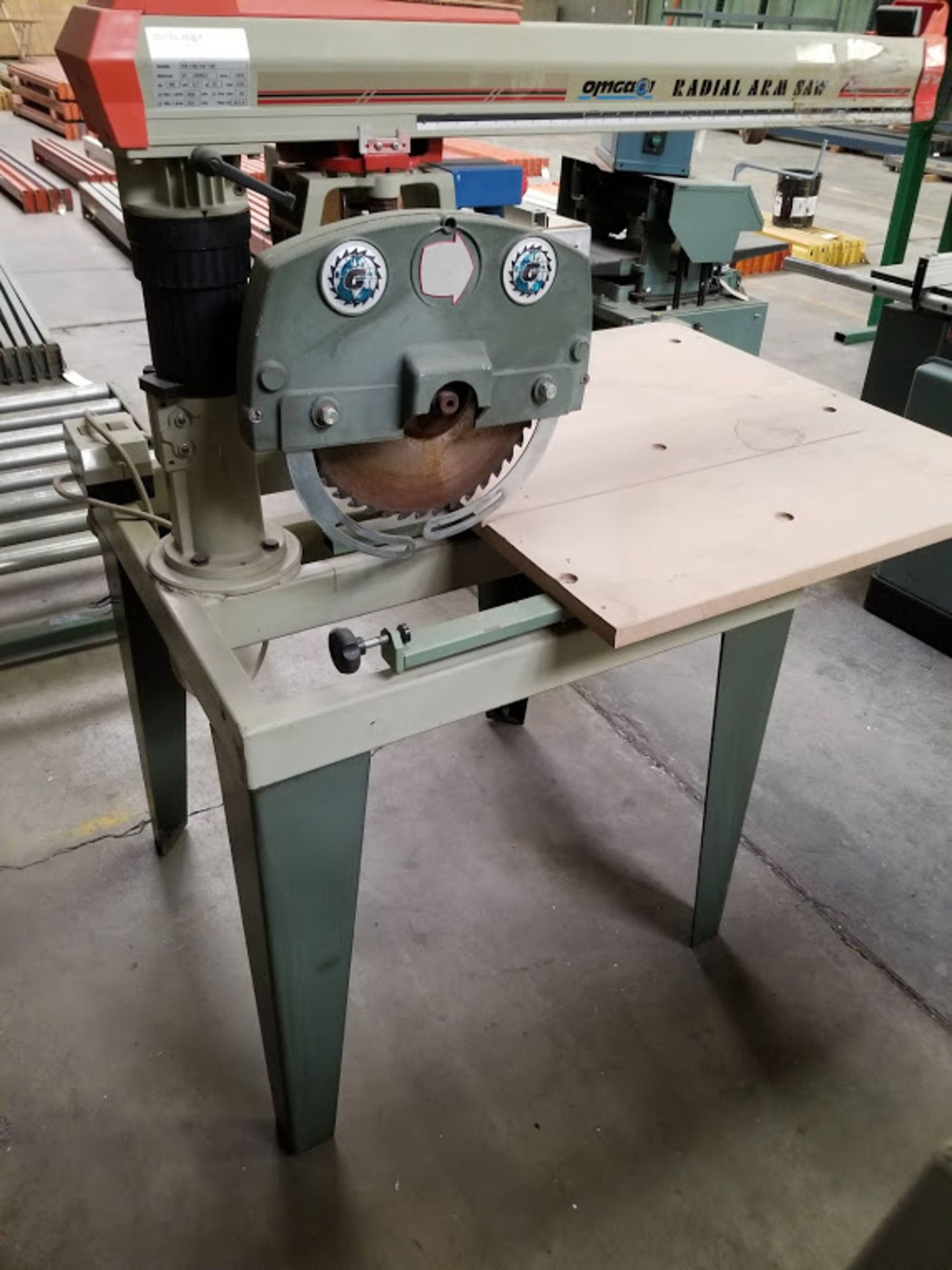 "Lot 16 - Omga 14"" Radial Arm Saw, # RN700, 230 Volts 3phase Motor"