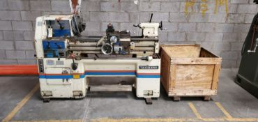 "Takisawa TSL-800 D 14"" x 30"" Metal Lathe, 230 Volts 3 Phase Motor with crate of Jaws & parts"