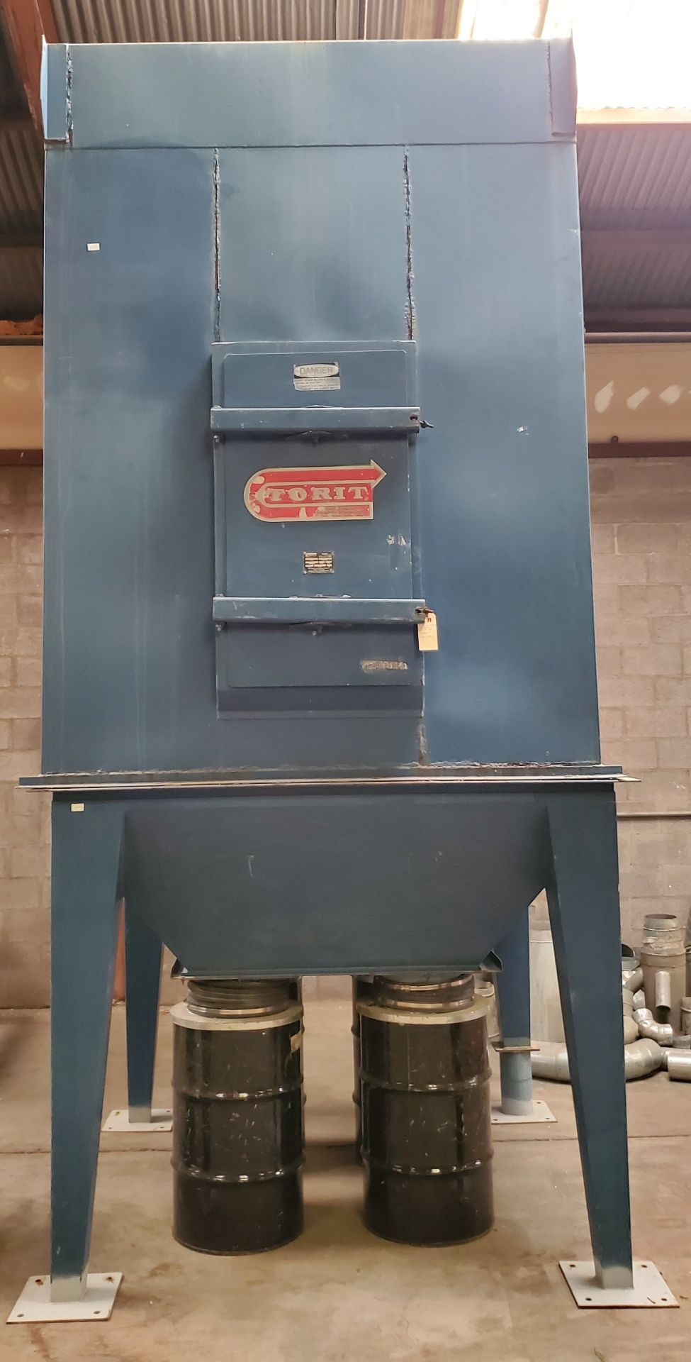 Lot 11 - Torit Bag House Dust Collector, Model #MIC-770-455 230/460 Volts 15 HP 3 Phase W/4 Steel Drums
