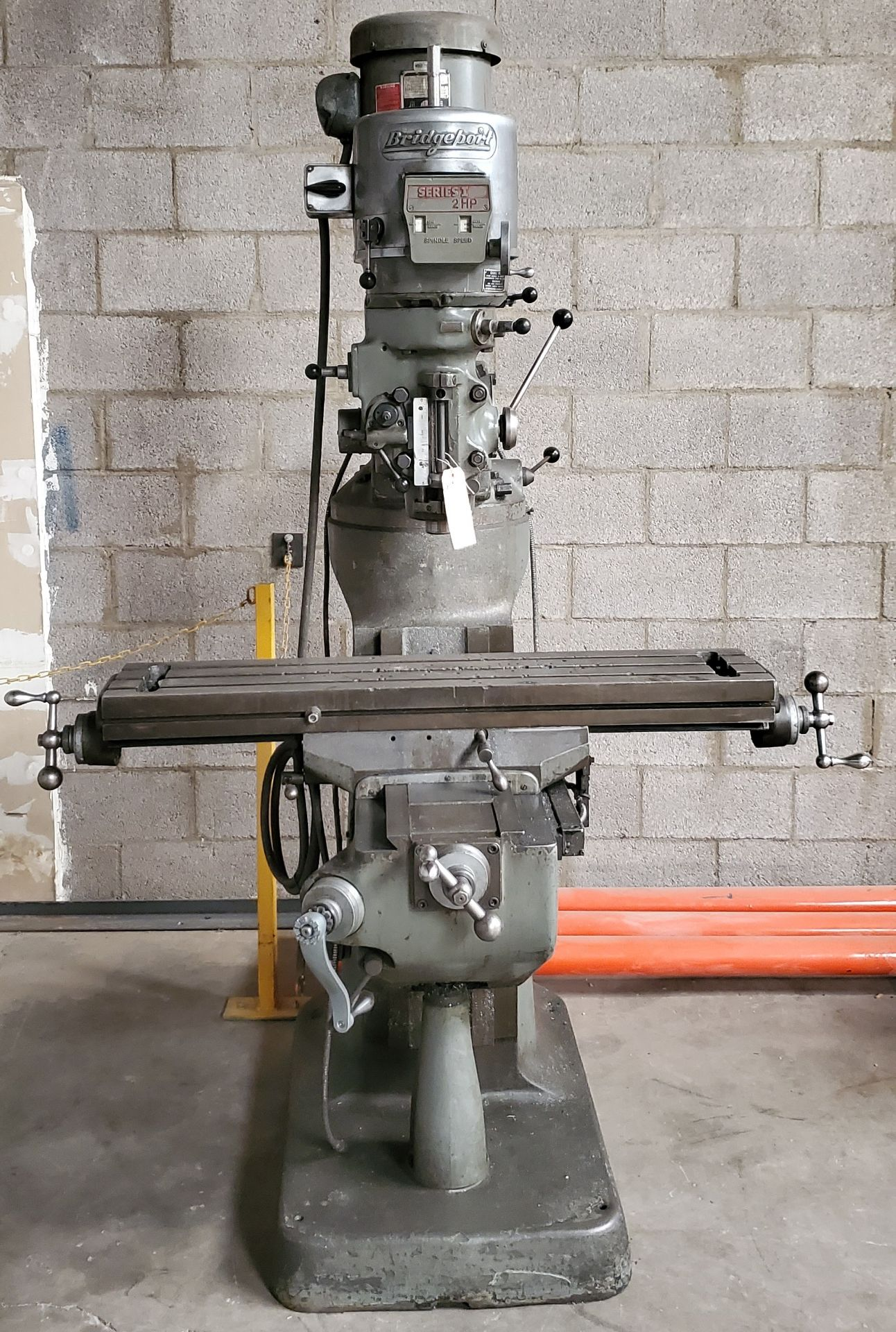 Lot 1 - Bridgeport Series 2 Vertical Milling Machine, 2 Hp 230 Volts 3 phase Motor