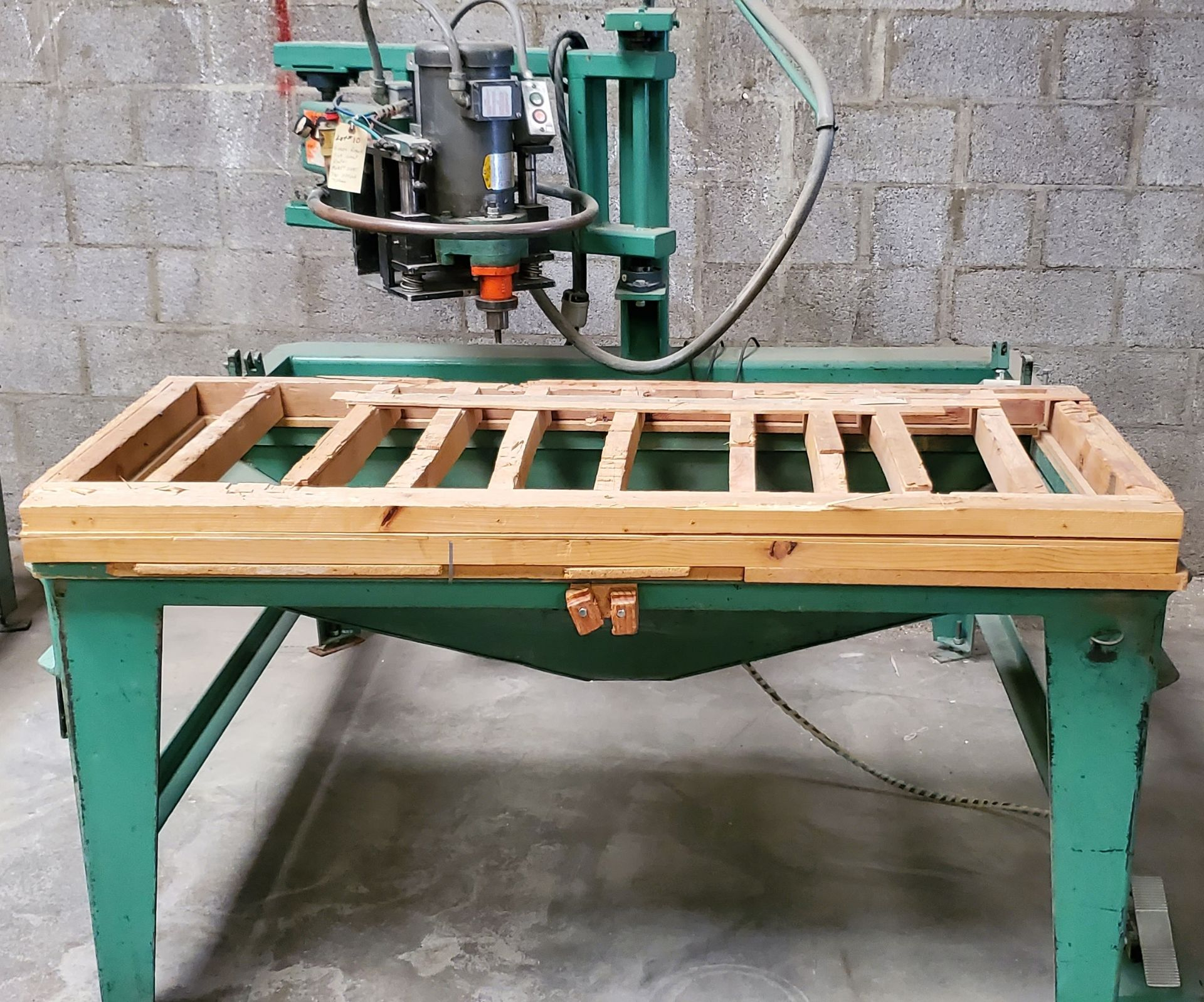Lot 10 - Evans Roterk Sink Cutout Router, Model #2480, 3HP 220 Volts 3 Phase Motor