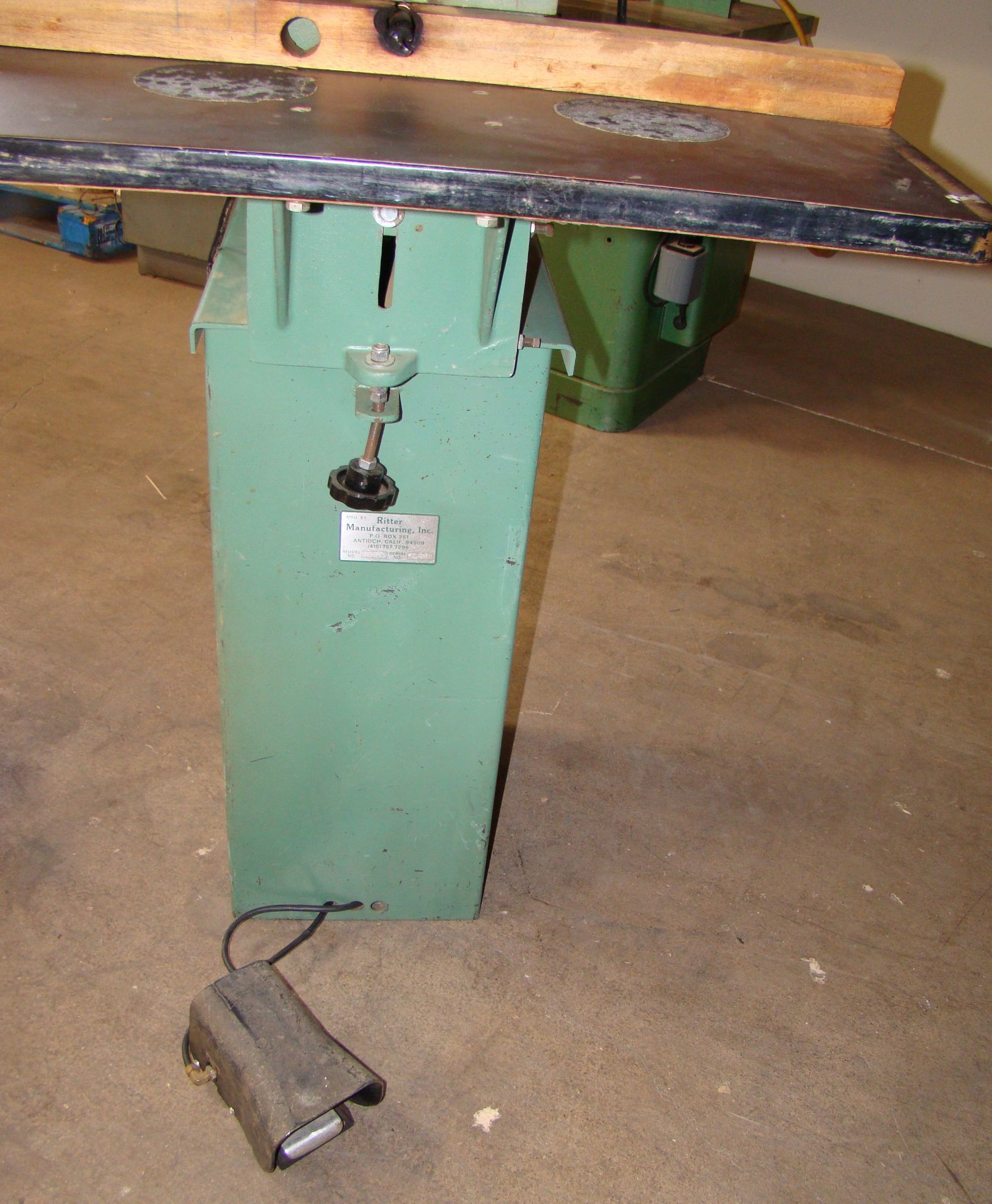 Ritter 1 Spindle Boring Machine, Pneumatic Foot Pedal, Baldor 3/4 HP 115/230 Volts 1 Phase Motor - Image 4 of 7