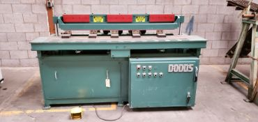 Dodds 5 Spindle Boring Machine, Model #B-802, 5 - Baldor 1.5 HP 208-230/460 Volts 3 phase Motors,