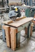 "Rockwell / Delta 14"" Radial Arm Saw, Model #33-381, 3 HP 230 volt 1 phase"