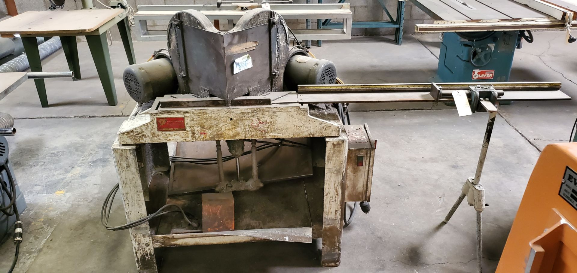 Lot 23 - Pistorius 45 Degree Double Miter Saw W/Fence System, Model #MN/200, 2 - 1-1/2 HP 230/460 Volts 3