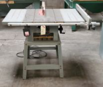 "Delta 10"" Contractor Table Saw, Model #34-444 1.5 HP 115/230 Volts 1 phase Motor"