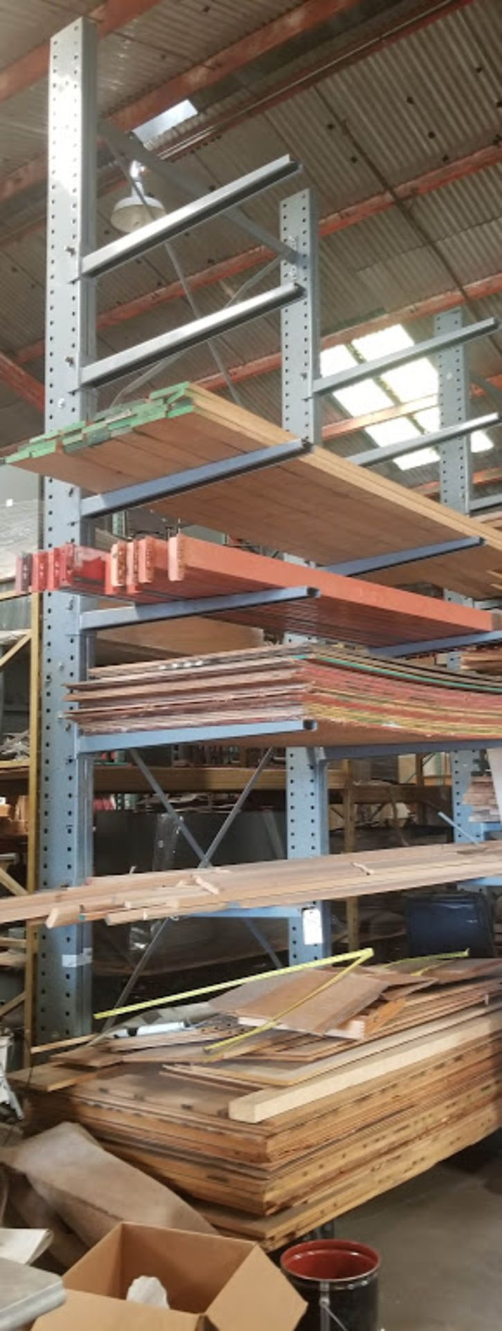 """Cantilever Racking/Shelving Double Sided 18' Uprights (Qty. 2) 48"""" Arms (14)"""