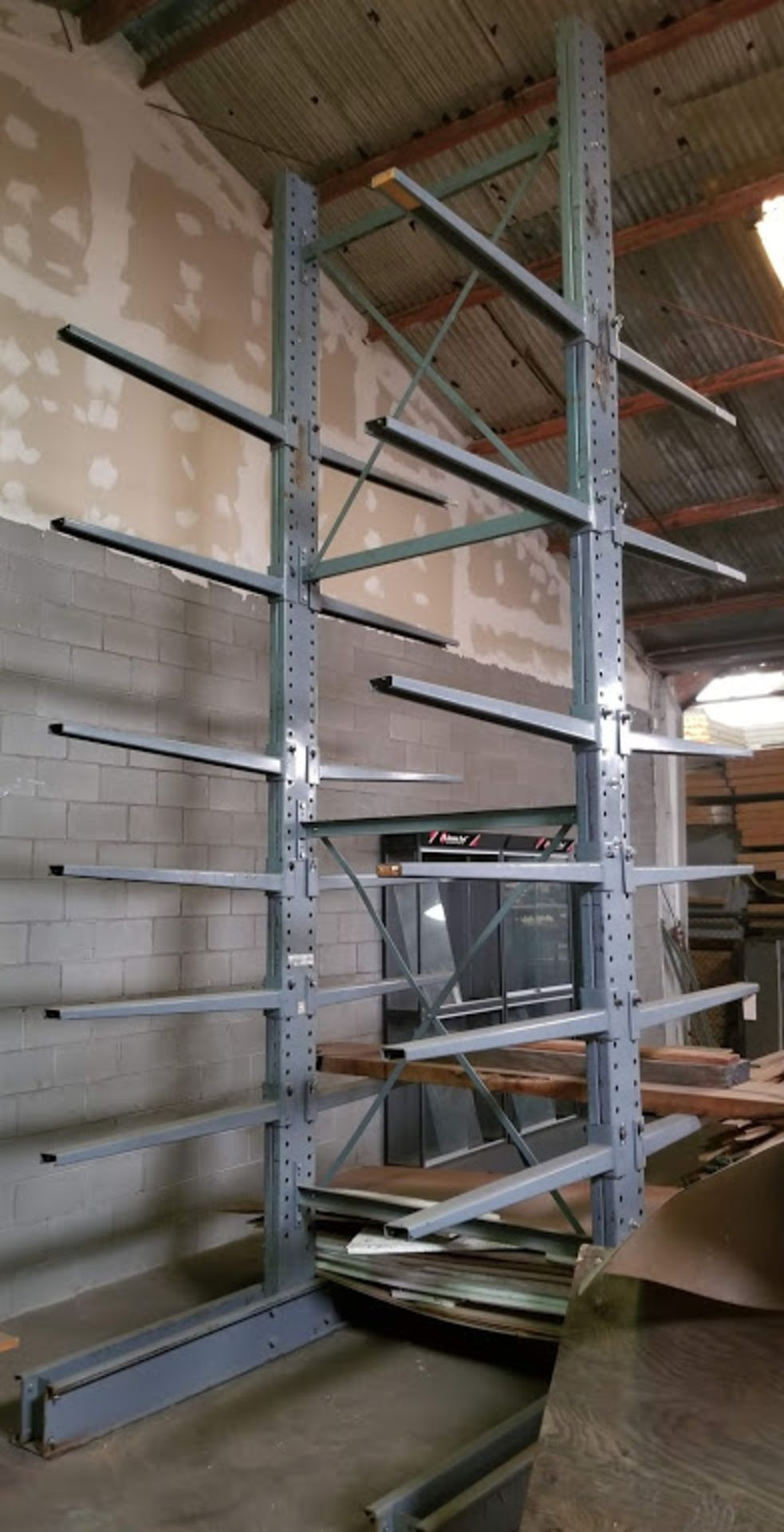 """Cantilever Racking/Shelving Double Sided 18' Uprights (Qty. 2) 48"""" Arms (Qty. 24) - Image 3 of 3"""