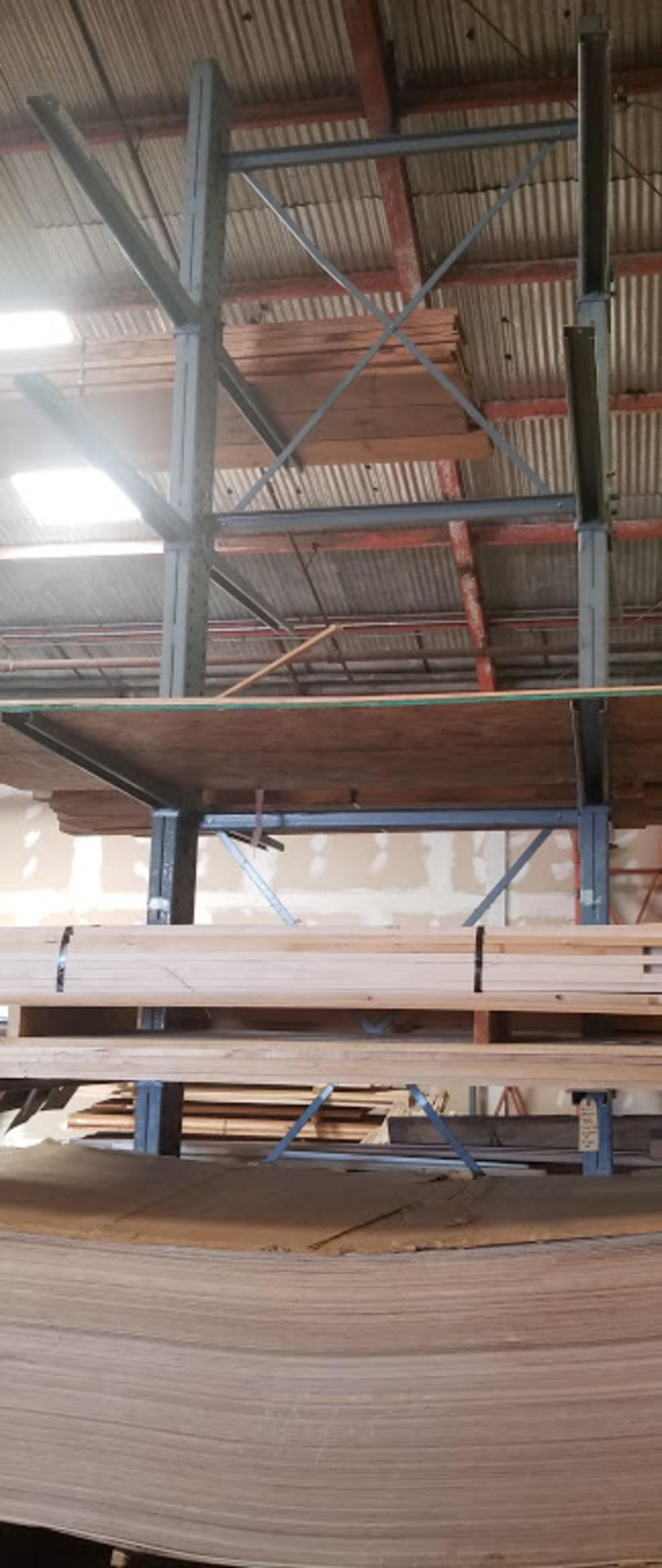 """Cantilever Racking/Shelving Double Sided 18' Uprights (Qty. 2) 48"""" Arms (Qty. 16)"""