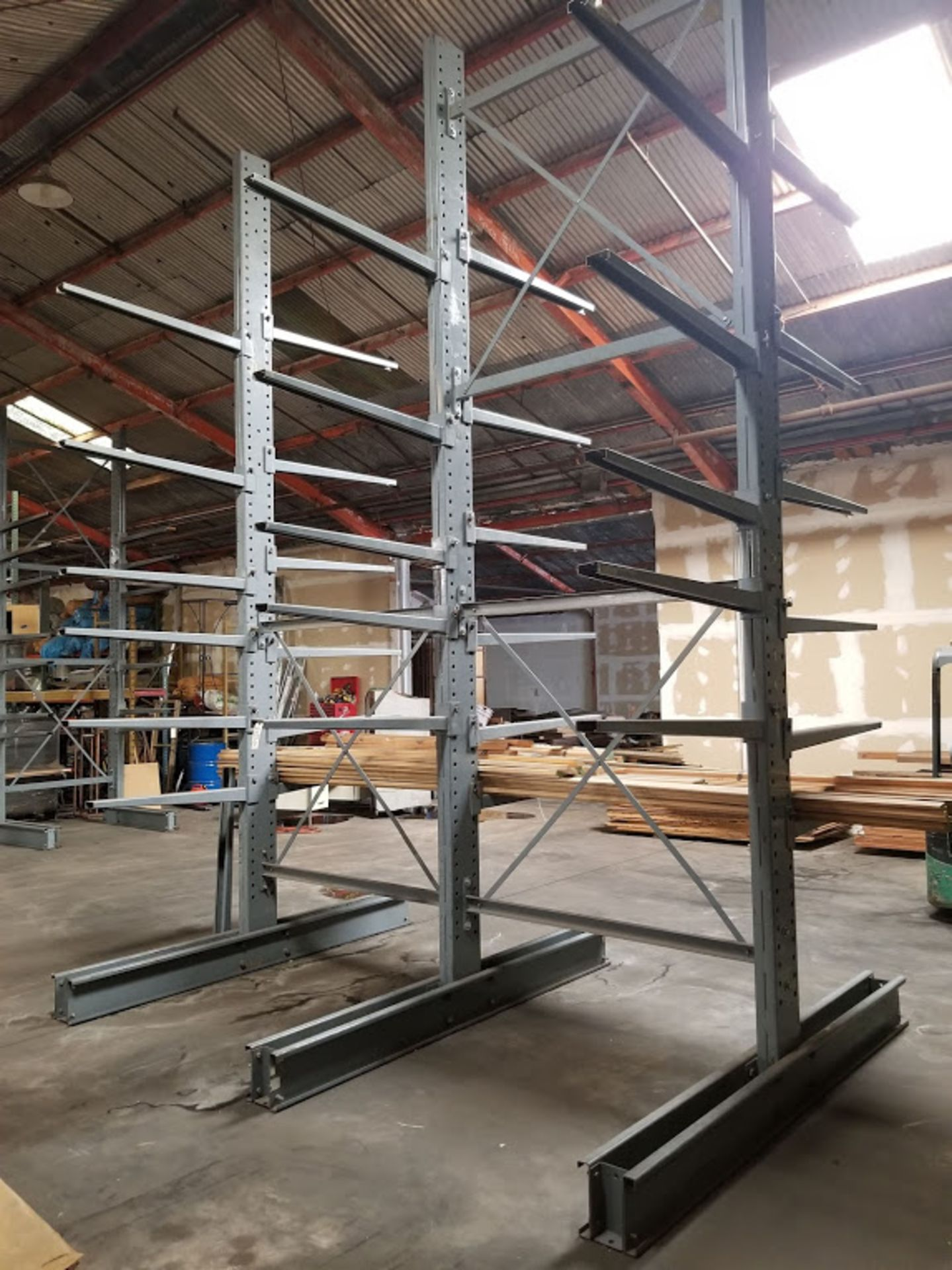 "Cantilever Racking/Shelving Double Sided 18' Uprights (Qty. 3) 48"" Arms (Qty. 34) - Image 3 of 3"