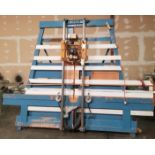 Her Saf Panel Router, Model: 135 Porter Cable Router Model:5182 w/ Pneumatic Hold Down Clamps