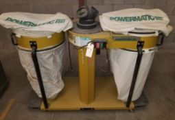 Powermatic 4 Bag Dust Collector Model: 075 3 HP 230V 3PH