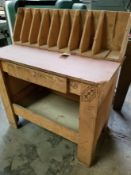 Wooden Storage Rack & Work Table w/ Drawer
