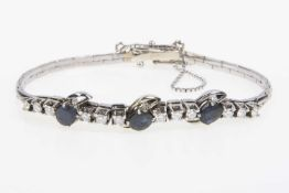 Brillant-Saphir-Armband