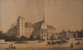 Wiener Neustädter MilitärakademieLithografie, 26x42,5 cm, verglast, gerahmt;