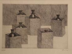 Paul Flora (Glurns 1922-2009 Innsbruck)Radierung, signiert Flora, Nr.91 von 95 num. Abzügen, in