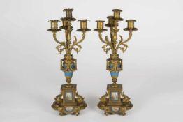 Paar Kerzenleuchter in bronze dore Montierung