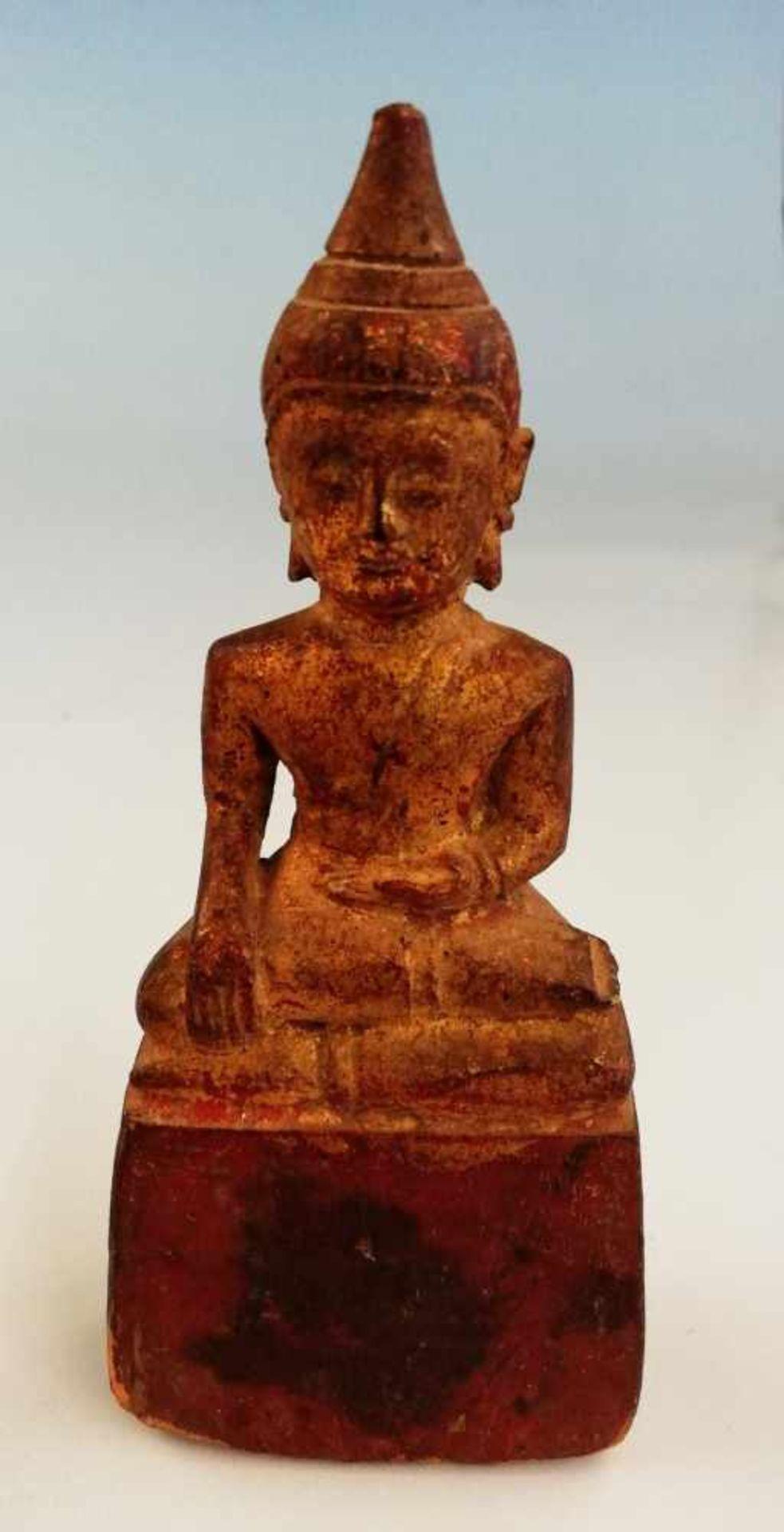 Buddha auf Votivsockel - Bild 2 aus 2