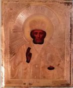 Russische Ikone, Hl.Nikolaus, 19.Jh.,