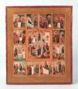 Griechische Ikone, 19Jh.,