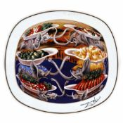 """Les delices petits martyrs"" - decorative plate Salvador Dali, limited edition"