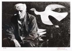 Georges Braque in his studio