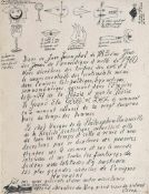 Diploma for the poet Gherasim Luca