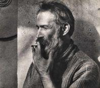 Constantin Brancusi smoking