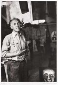 Victor Brauner in his studio