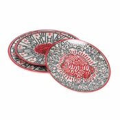 """Untitled"" - three decorative plates by Keith Haring"
