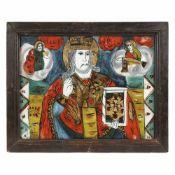 """Saint Nicholas"", credited to painter Petru Prodan, Maieri, Alba Iulia, approx. 1850-1880"