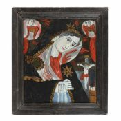 """Bereaved Virgin Mary"", credited to painter Petru Prodan, Maieri, Alba Iulia, approx. 1850-1880"