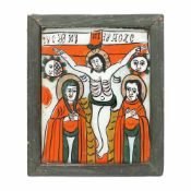 """""""The Crucifixion of the Lord"""", Transylvanian workshop (Nicula), late 19th century"""