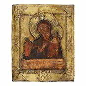 """""""Virgin Mary and the Baby - Unexpected Joy"""", Russian school, second half of 18th century, wooden"""