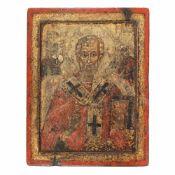 """Saint Nicholas"", Wallachia, Romanian school, the time of Matei Basarab, first half of 17th cent"
