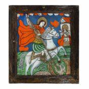 """Saint George Killing the Dragon"", Transylvanian workshop (Șcheii Brașovului), late 19th century"