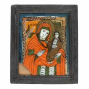"""""""Virgin Mary and the Baby (Hodighitria)"""", Transylvanian workshop (Nicula), second half of 19th c"""