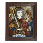"""Saint Archangel Michael"", credited to painter Petru Prodan, Maieri, Alba Iulia, approx. 1850-1880"