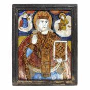 """Saint Nicholas"", credited to painter Maria Prodan (Furnică), Maieri, Alba Iulia, late 19th century"