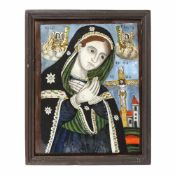 """""""Bereaved Virgin Mary"""", credited to painter Ilie I Poienaru, Laz, approx. 1890"""