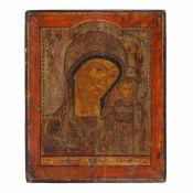 """Virgin Mary and the Baby (Kazanskaya)"", Lipovan school, early 19th century"