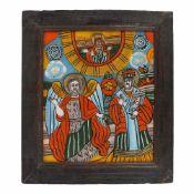 """""""Saint Archangel Michael and Saint Nicholas"""", Transylvanian workshop (Șcheii Brașovului), late"""