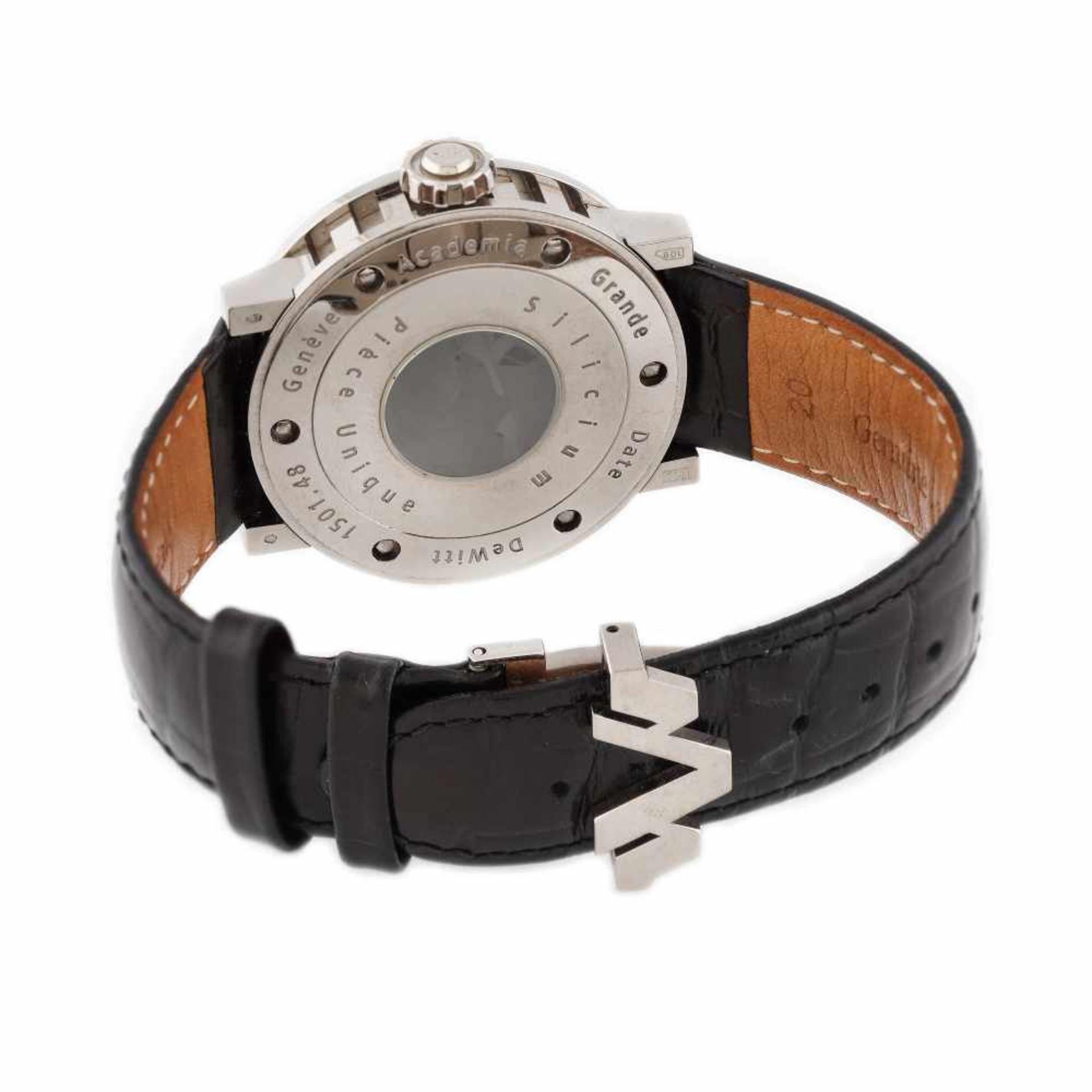 DeWitt Academia Grande Date Silicium wristwatch, white gold, men - Bild 3 aus 3
