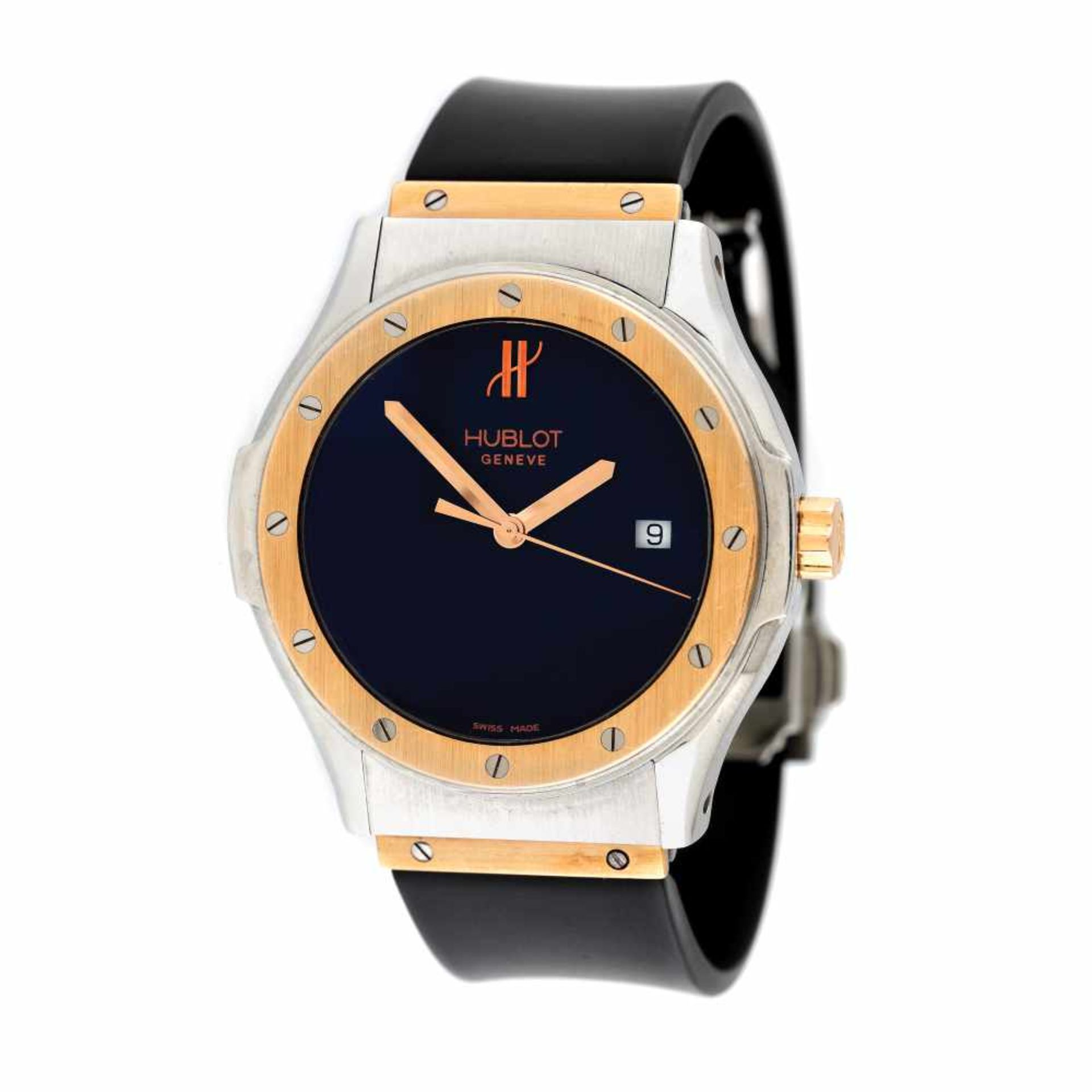 Hublot Classic Fusion wristwatch, steel and rose gold, unisex, provenance documents